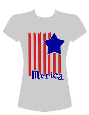 American Flag with stars Merica