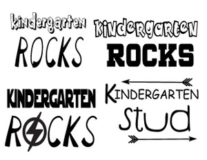 Kindergarten Rocks and Stud Shirt