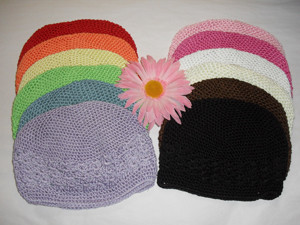 Beanie Crochet Hat with flower