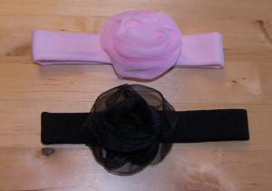Rosebud Chiffon Headband