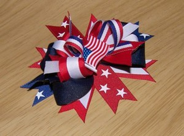 4th of July Bow