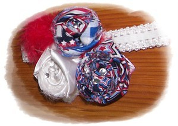 4th of July Rosette Headband