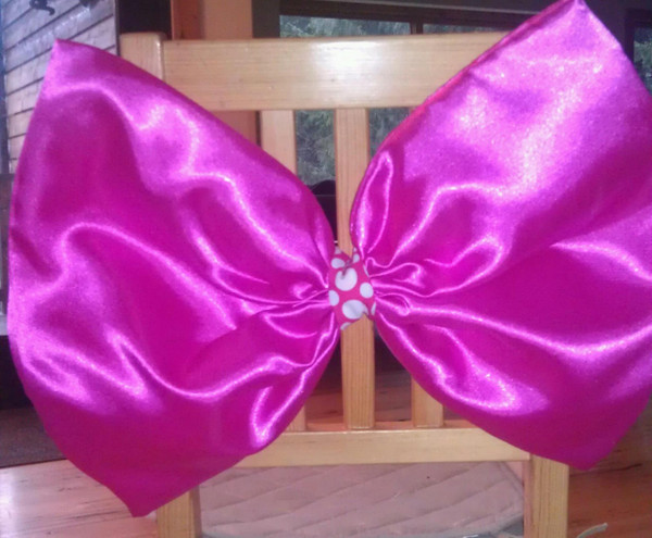 Hot Pink Bow Chair Covers