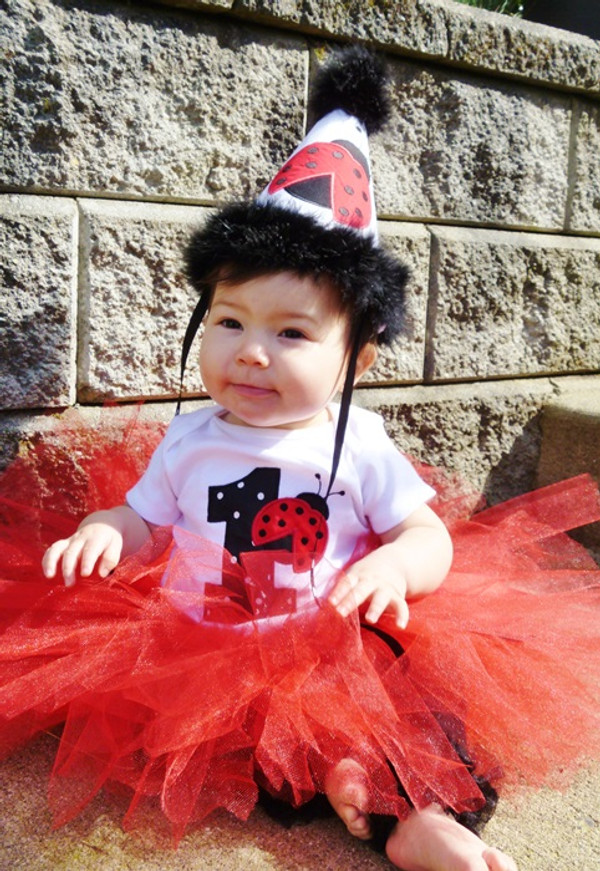 Ladybug outfit birthday number