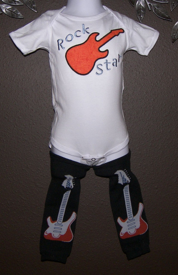 Rock star shirt and leg warmers
