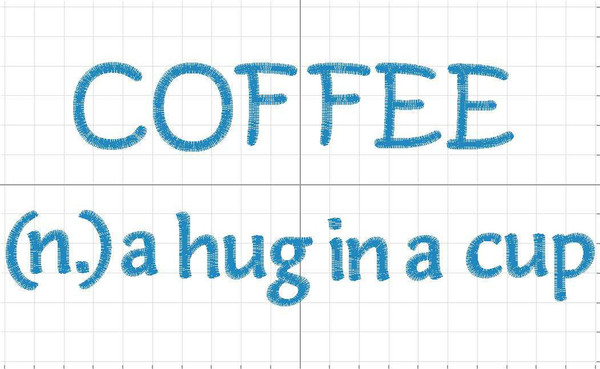 Coffee embroidery download