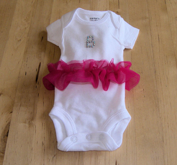 Princess Alpha Bling and Chiffon Onesie