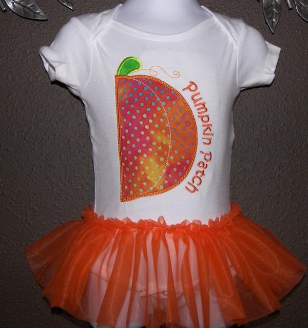 Pumpkin Patch Shirt with Chiffon