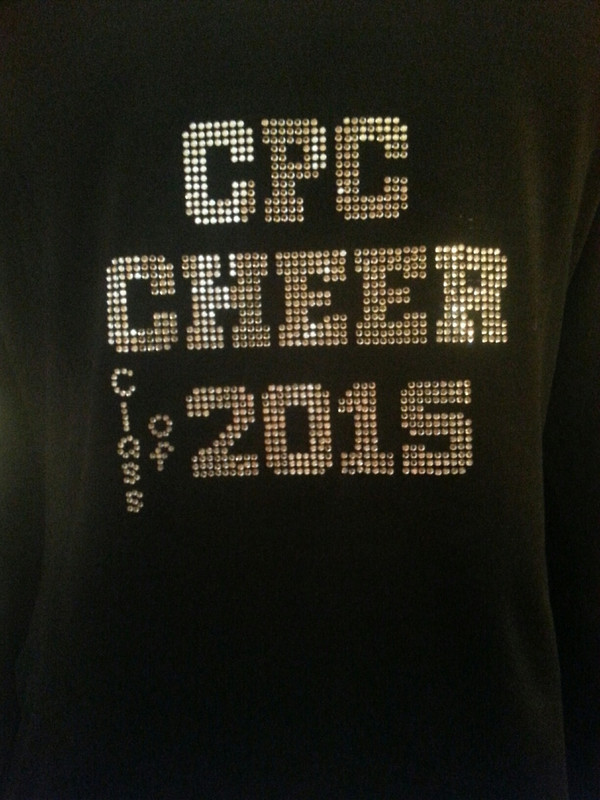 School Cheer Bling Jacket with class