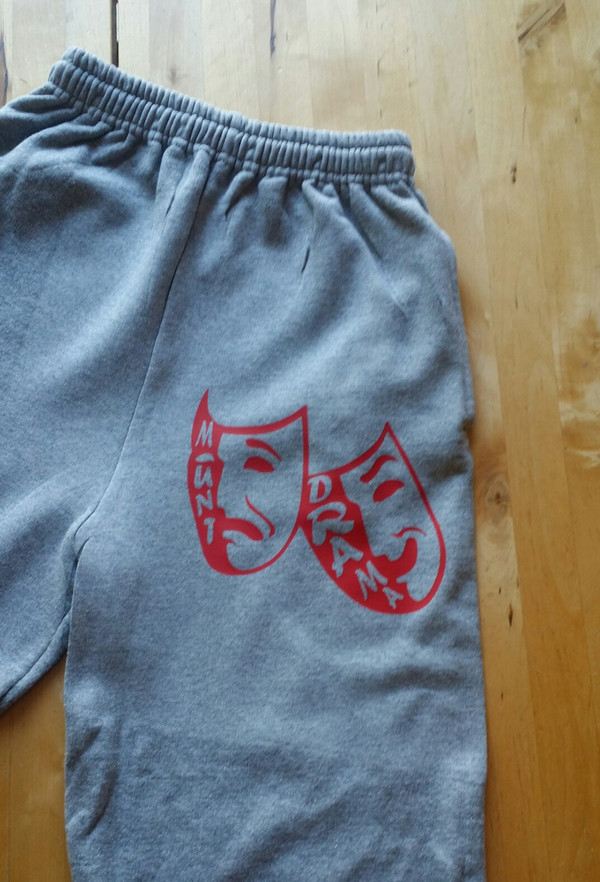 Sweats come in Gray, Red or Black