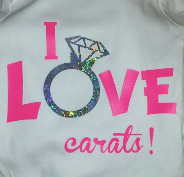 I love Carats Ring shirt with bling