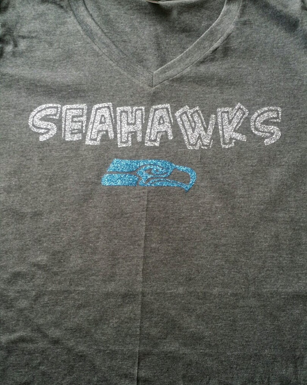 Seahawks Silver Bling with logo