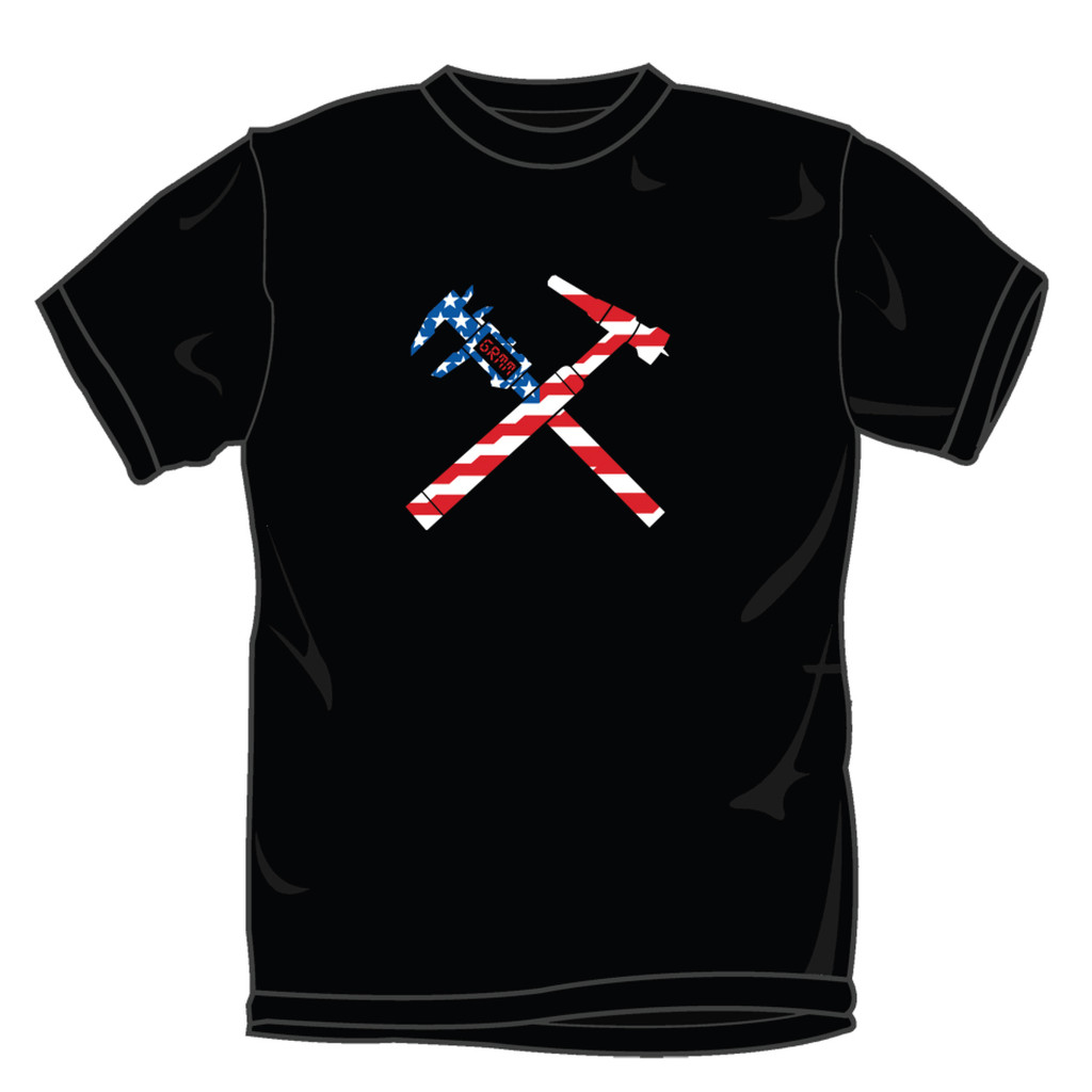 GrimmSpeed Torch and Caliper Flag T-Shirt - Black