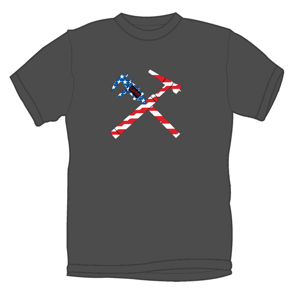 GrimmSpeed Torch and Caliper Flag T-Shirt - Gray