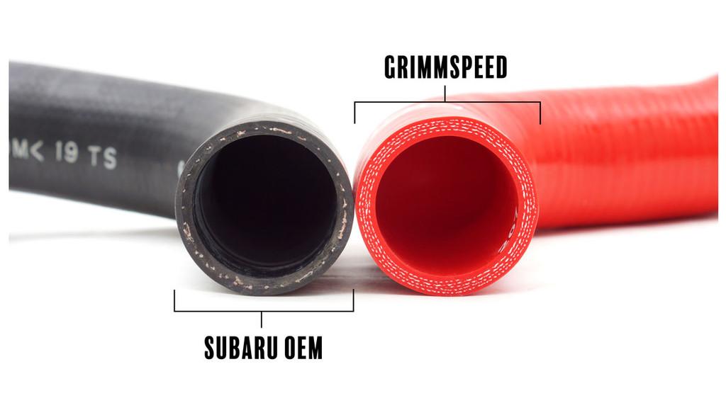 GrimmSpeed Radiator Hose Kit, Black - 08-11 Impreza, 08-14 WRX, 08-18 STI, 09-10 Forester, 09-13 FXT