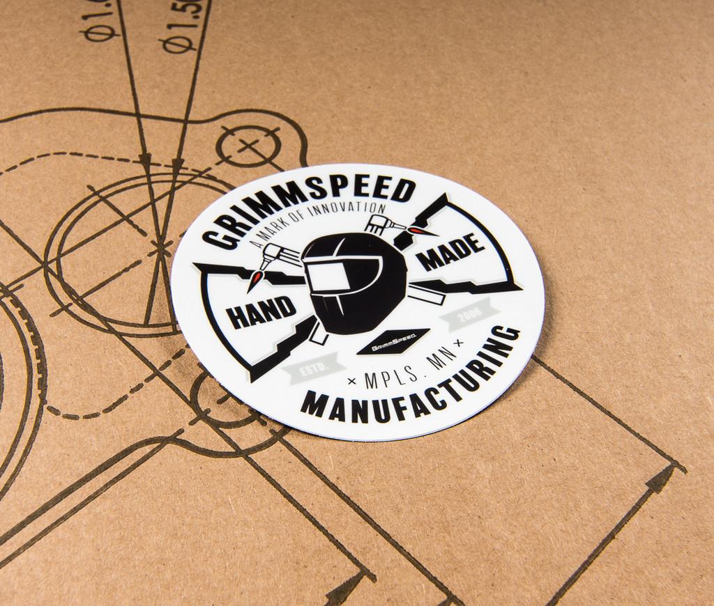 GrimmSpeed Round MFG Sticker - 4 inch
