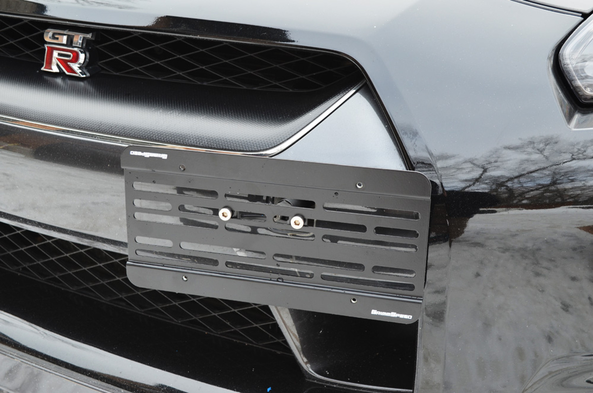 License Plate Relocation Kit - Nissan GT-R - GrimmSpeed