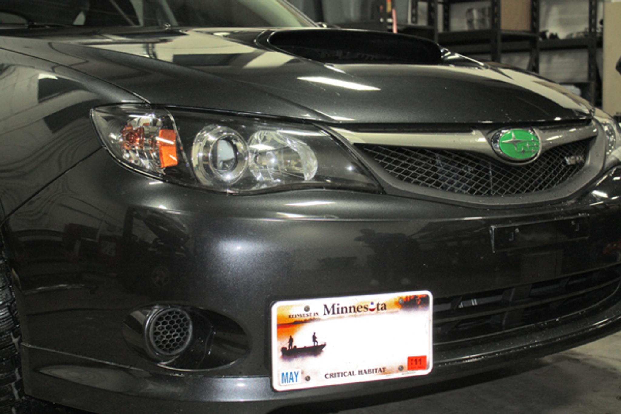 License Plate Relocation Kit - 08-14 Subaru WRX/STI, 05-09 Legacy ...