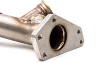 External Wastegate Up Pipe w/ Dump Tube 3-Bolt Inlet, 38/40mm V-Band WRX/STI/LGT/FXT