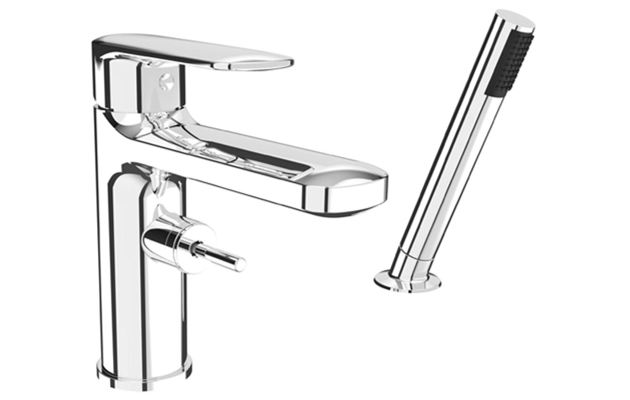 Rubi Myrto 2 Pc Tub Deck Mount Faucet Chrome - York Taps