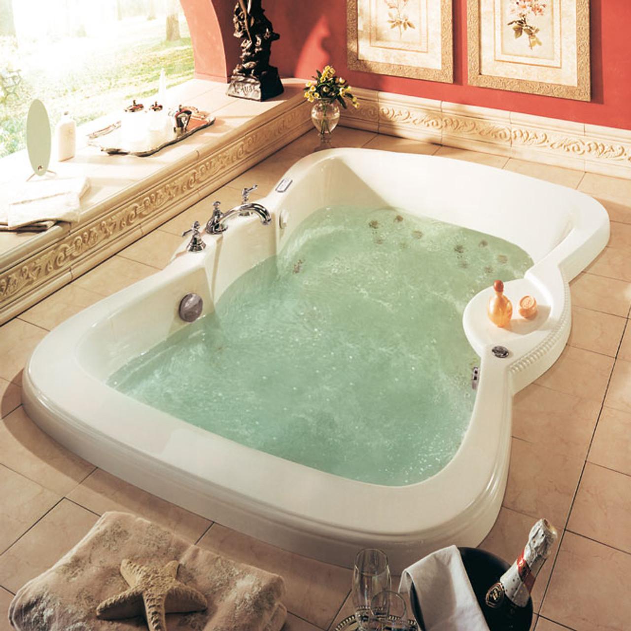 Neptune Cleopatra Drop in Bathing Bath Tub 76 x 76 - York Taps