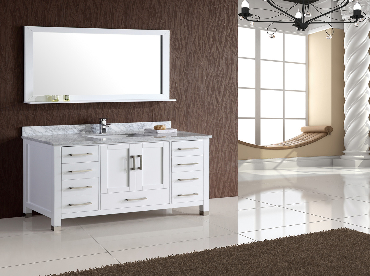 sink in double design london matching bathroom two with set white element linen w cabinet vanity