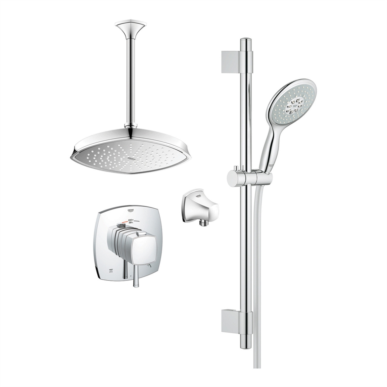 bauloop chrome kit pic shower grohe