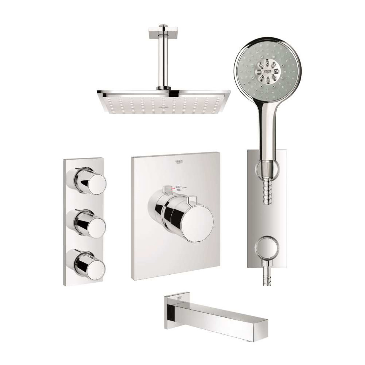 Grohe Gloucester Bathroom Faucet.Grohe Gloucester Brushed Nickel 1 ...