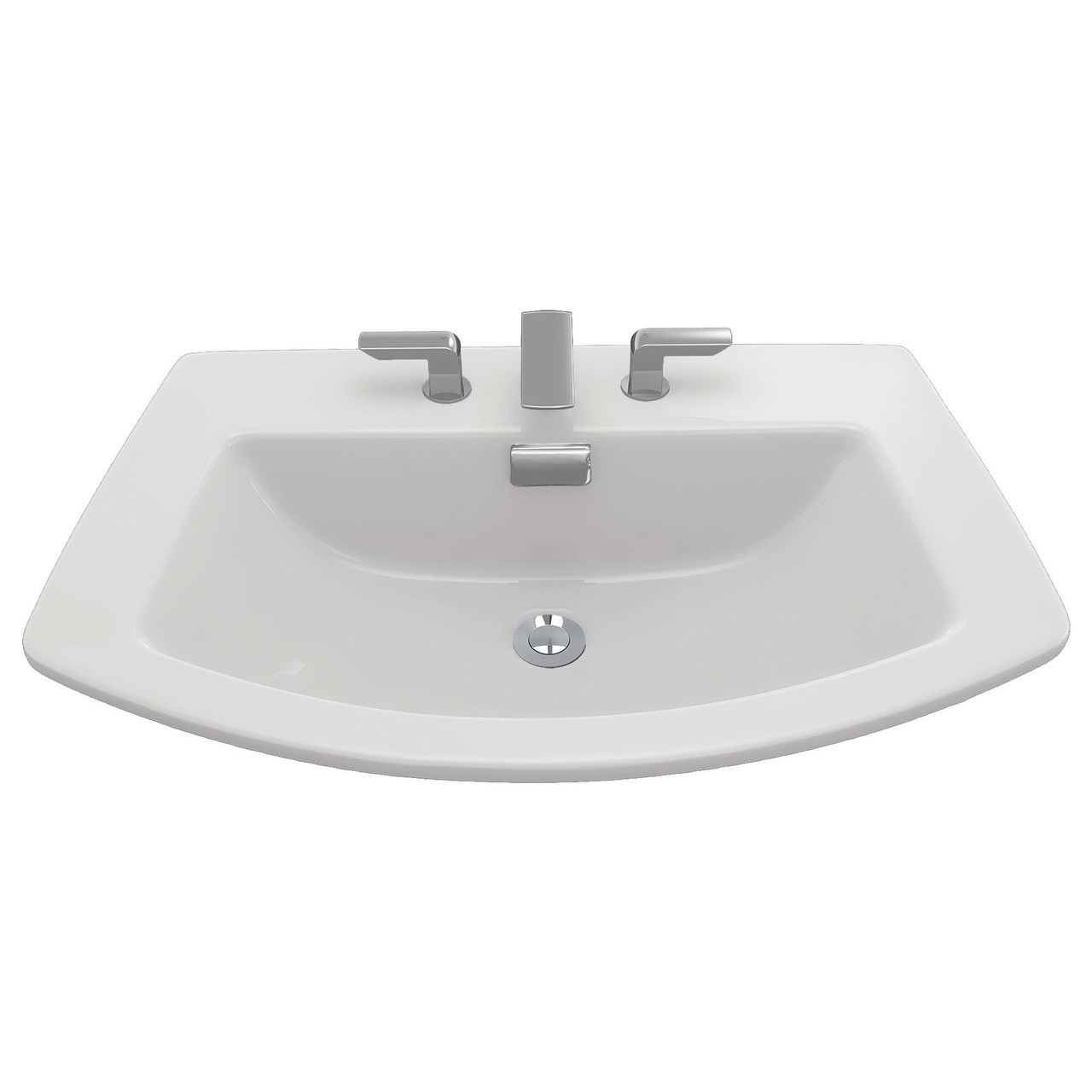 TOTO SOIREE 3-HOLE SELF-RIMMING BATHROOM SINK & OVERFLOW, 8\