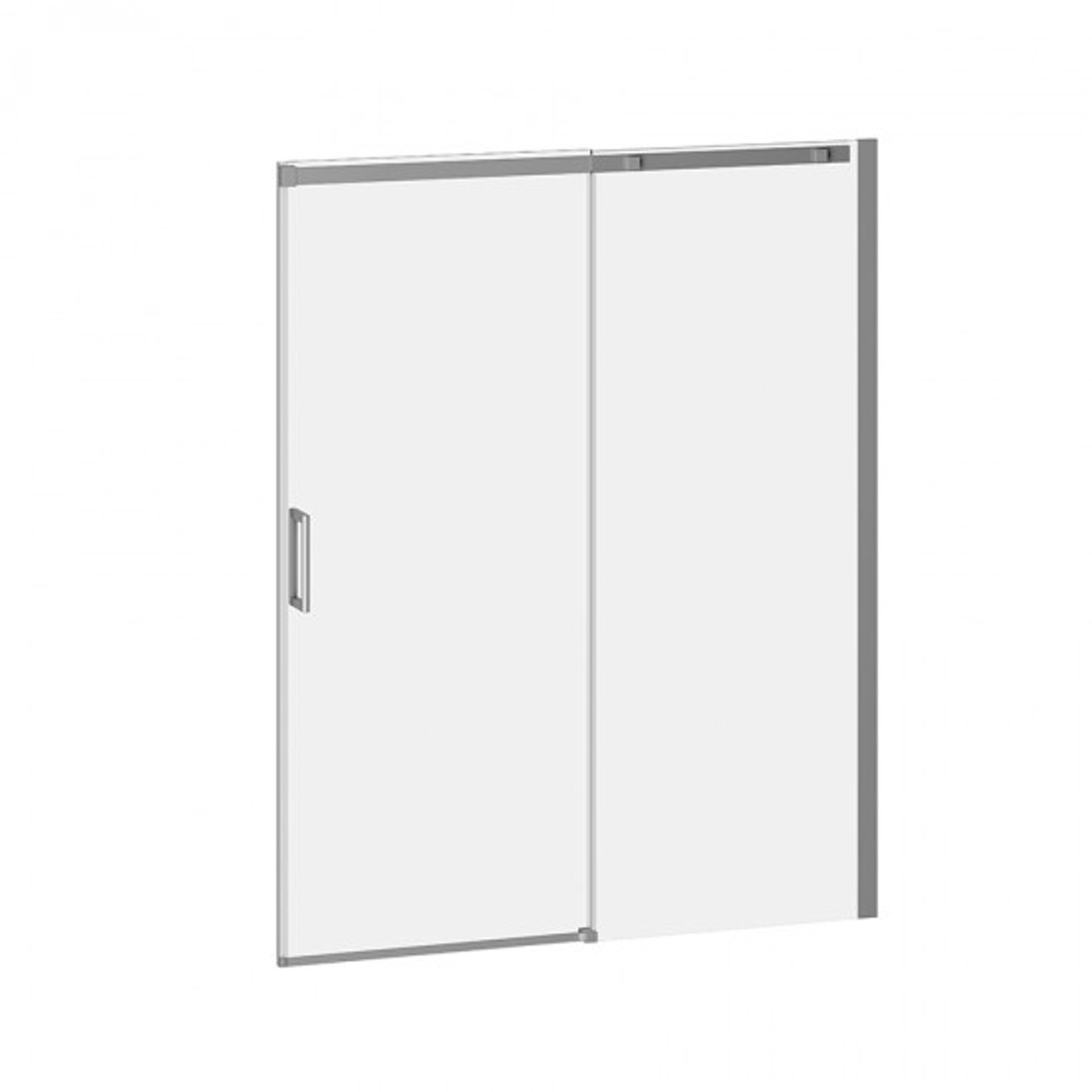 VIVIO DR1478 60\'\' X 75\'\' sliding shower door for alcove installation ...
