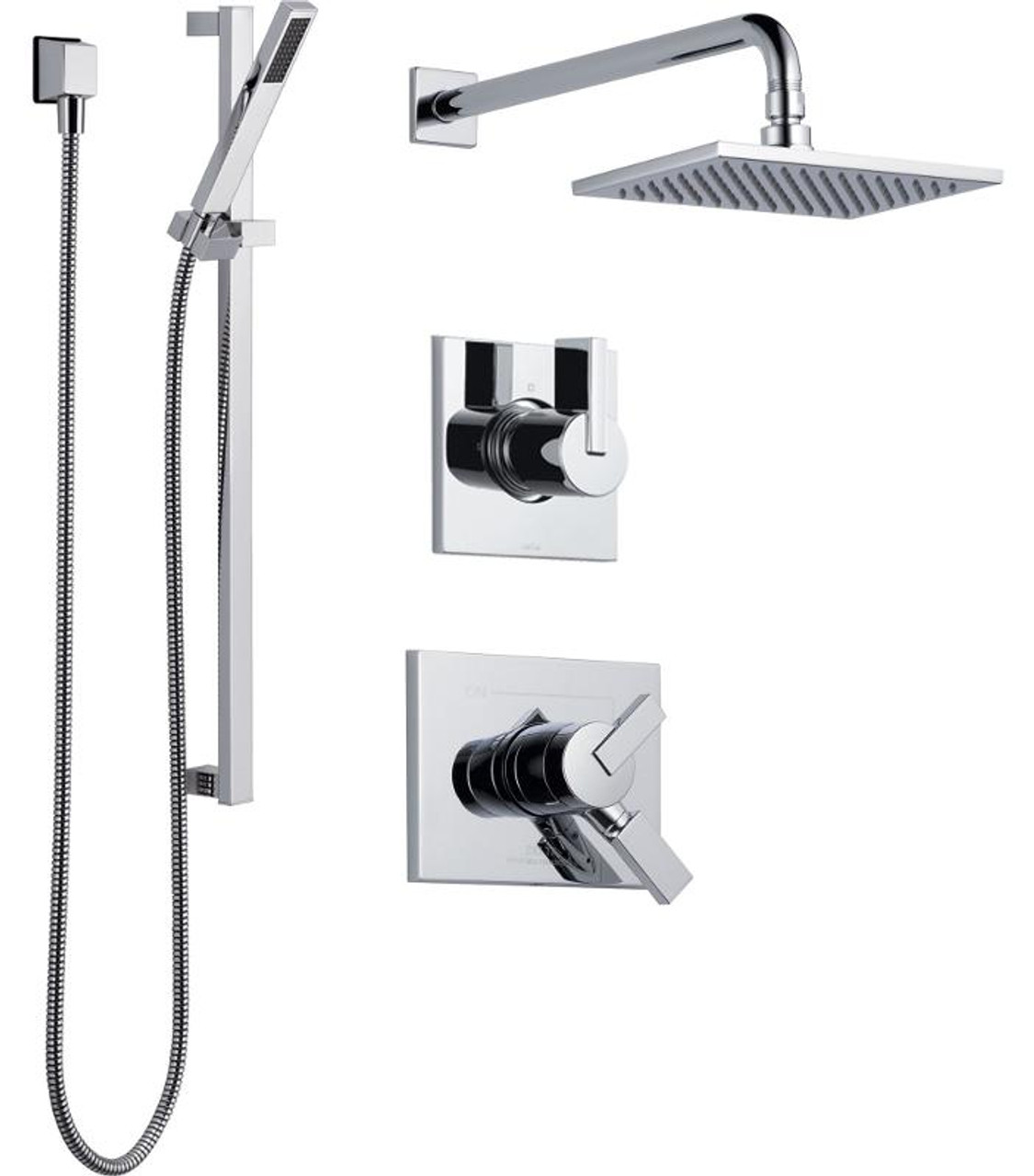 dripping integrated brilliance head systems volume heads polished nickel thermostatic delta shower system with control series