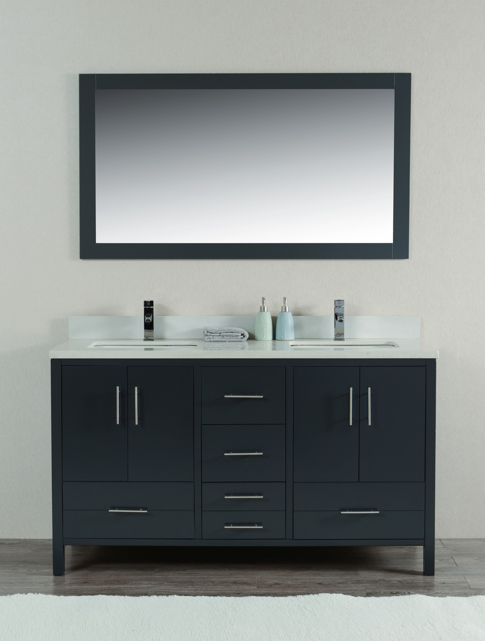 bathroom double sink vanities. Mackenzie 60\ Bathroom Double Sink Vanities L