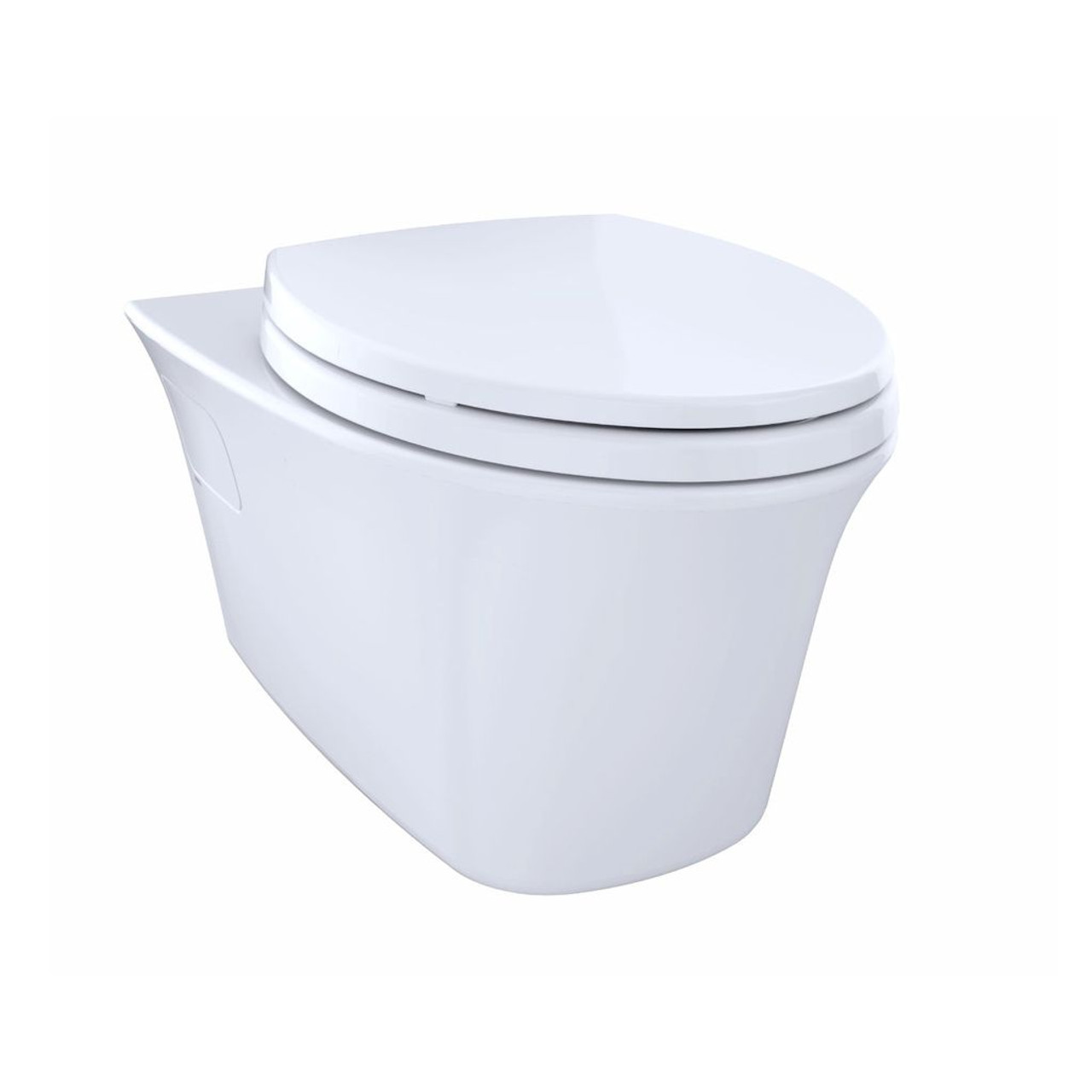 TOTO CT486FG Maris Wall Hung Dual Flush Elongated Toilet Cotton ...