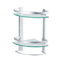 Elegant Glass Corner 2 Shelves