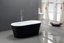 """Colorado 63"""" Free Standing Bath Tub Black"""