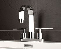"Rubi Larix 4"" single-handle washbasin faucet"