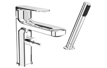 Rubi Myrto 2 Pc Tub Deck Mount Faucet Chrome