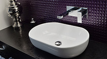 Rubi Quatro Wall-mounted single-hole basin faucet