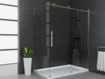 "66"" Mirolin Roll Top Shower Door"