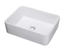 "York Ville Square Over Mount Counter top Bathroom sink 18 7/8"" X 14 5/8"" x 5-8/5"""