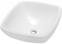 "Malta Drop in Bathroom Ceramic Sink 17.5"" x 17.5"""
