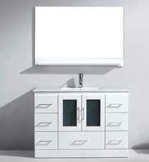 "Oakville 48"" White Bathroom Vanity"