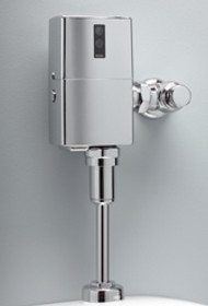 EcoPower High Efficiency Urinal Flushometer Valve, 1.0 Gpf, Exposed -