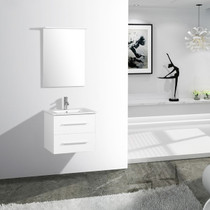 "Luxor 24"" White Wall Mount Vanity"