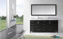 "Alexandria 72"" Bathroom Vanity ONLY WITHOUT TOP"