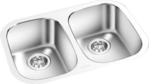GE Double Bowl Kitchen Sink 24.5'' x 17 3/8''