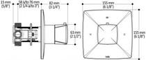 Kalia UMANIT2 STANDARD Shower System 2 Way Thermostatic