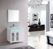 "London 36"" Bathroom Vanity White"