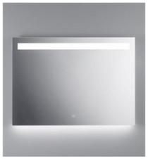"Illusion illuminated LED mirror with frosted horizontal stripe backlit bottom 39 1/2"" x 27 1/2"""