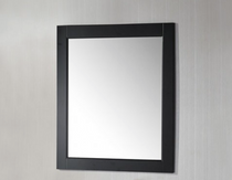 "Royal Wall Framed Mirror 30"" Espresso"